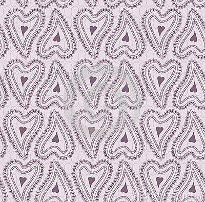 Seamless pattern of lace ornament