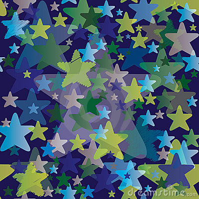 Seamless Pattern with Stars - Night Sky Background