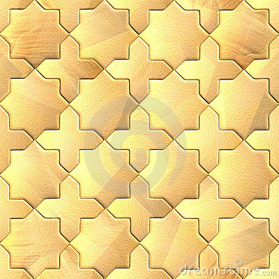 Seamless pattern of a stoned tile