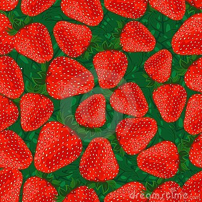 Seamless pattern strawberries.