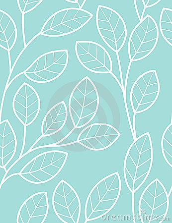 Seamless pattern with styled leaves