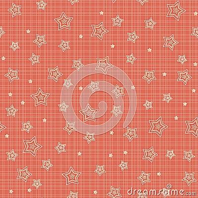Seamless pattern with stylized stars