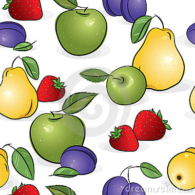Seamless pattern - Sweet fruits