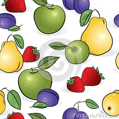 Seamless pattern - Sweet fruits