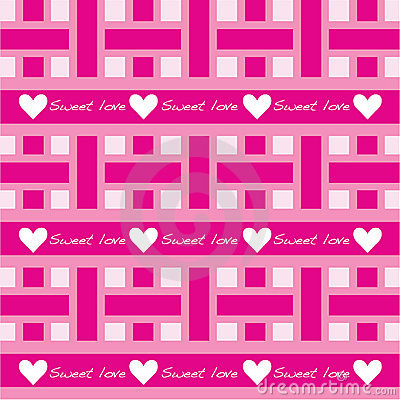 Seamless pattern with sweet love