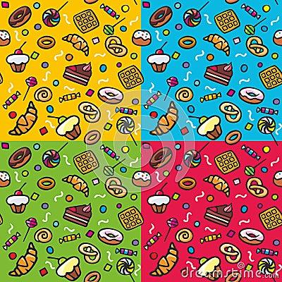 Seamless pattern: Sweets