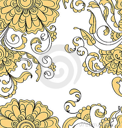 Seamless pattern with tender flowers