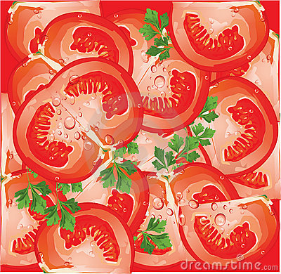 seamless pattern with tomato