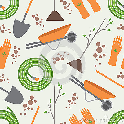 Free Seamless Pattern Tools For Working In The Garden Stock Images - 45047844