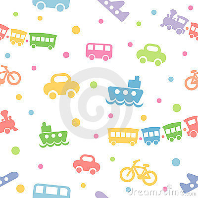 Seamless pattern toy-transport