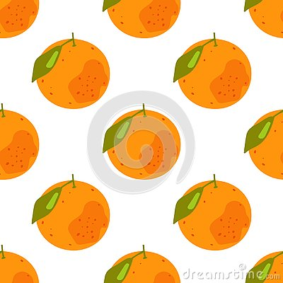 Seamless pattern of tropical citrus fruits Stock Photo