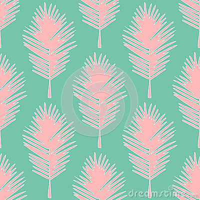 Free Seamless Pattern Tropical Leaves Royalty Free Stock Image - 55313146