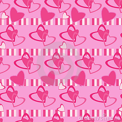 Seamless pattern Valentine day motives