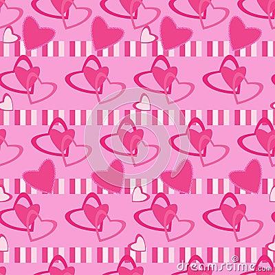 Seamless pattern Valentine day motives