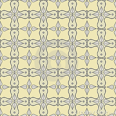 Seamless pattern with victorian motifs and colors