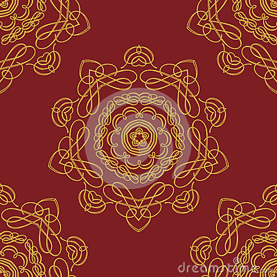 Seamless pattern vintage background.