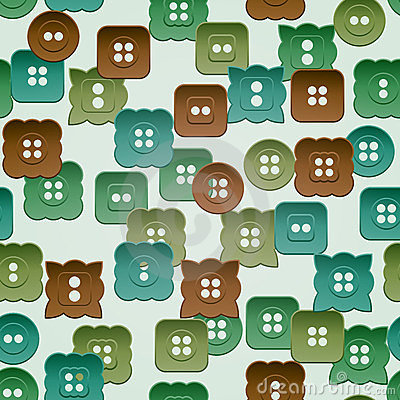 Seamless pattern with vintage buttons