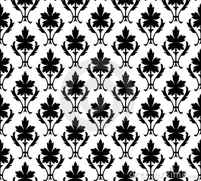 Seamless pattern wallpaper floral