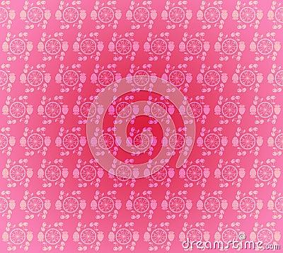 Seamless pattern wallpaper light pink small fruits