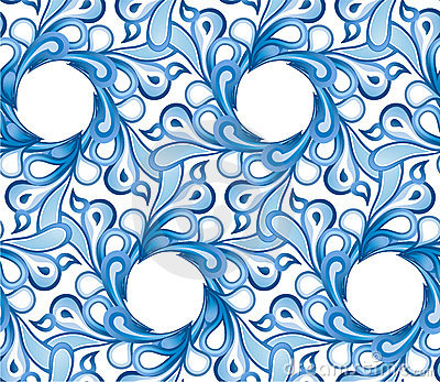 Seamless pattern - Water flowers