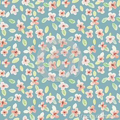 Free Seamless Pattern. Watercolor Flowers. Little Flowers. Royalty Free Stock Image - 46935976