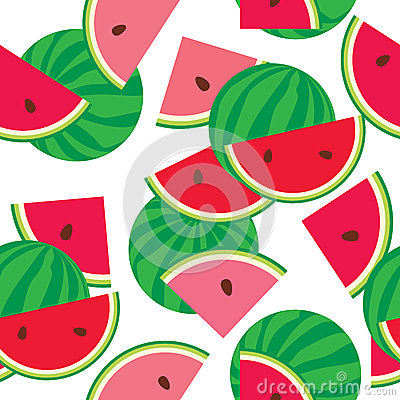 Seamless pattern of watermelon