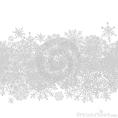 Seamless pattern with winter snowflakes for your