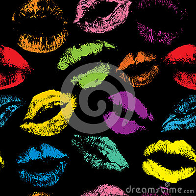 Free Seamless Pattern With Beautiful Different  Lips Royalty Free Stock Photography - 39060387