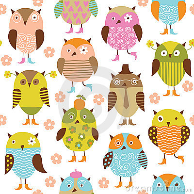 Free Seamless Pattern With Birds Royalty Free Stock Images - 17924739