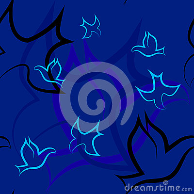 Free Seamless Pattern With Birds Royalty Free Stock Image - 31966646