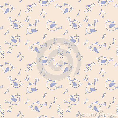 Free Seamless Pattern With  Birds. Stock Photos - 64259993