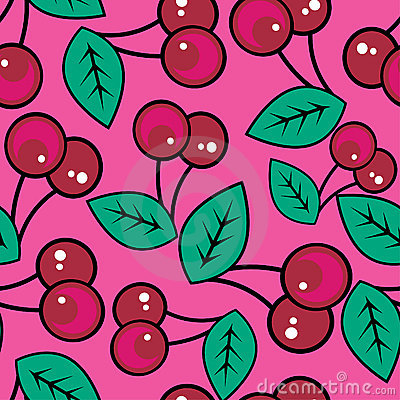 Free Seamless Pattern With Cherries Stock Images - 8099164