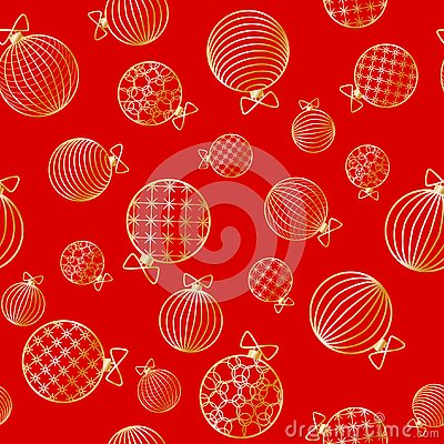 Free Seamless Pattern With Christmas Ball Winter Festive Background On New Year And Christmas Ornament For Greeting Cards Stock Photo - 132627930
