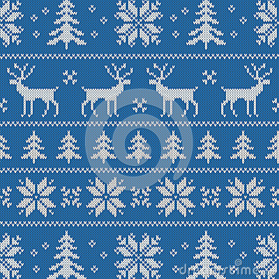 Free Seamless Pattern With Classical Sweater Design Stock Photography - 34313082