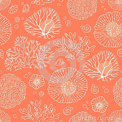 Free Seamless Pattern With Corals Stock Photos - 134119153