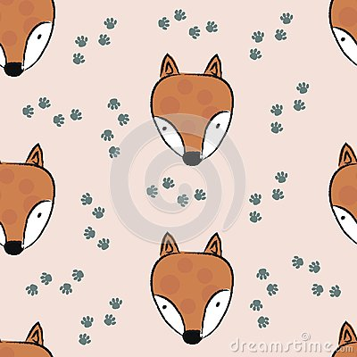 Free Seamless Pattern With Cute Fox Royalty Free Stock Photo - 122832895