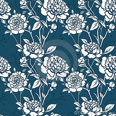 Free Seamless Pattern With Flowers Stock Photography - 17812252