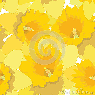 Free Seamless Pattern With Flowers Daffodils Royalty Free Stock Photography - 26239967