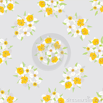 Free Seamless Pattern With Flowers Daffodils Royalty Free Stock Photo - 26240015