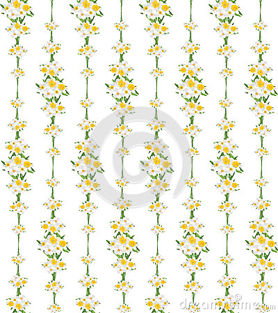 Free Seamless Pattern With Flowers Daffodils On White B Stock Photos - 26132663