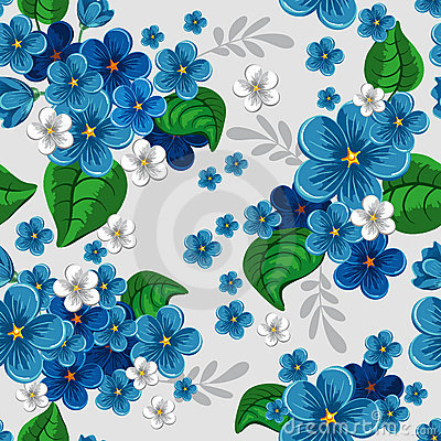 Free Seamless Pattern With Forget-me-not Stock Photos - 18653523