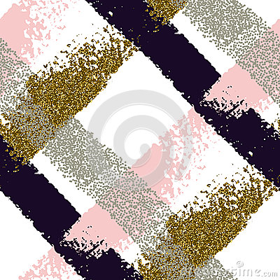 Free Seamless Pattern With Hand Drawn Brush Strokes Royalty Free Stock Images - 90206599