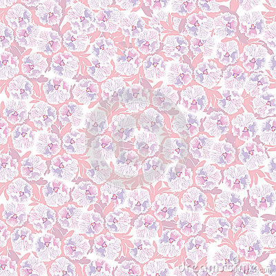 Free Seamless Pattern With Pink Flowers Royalty Free Stock Images - 25993019