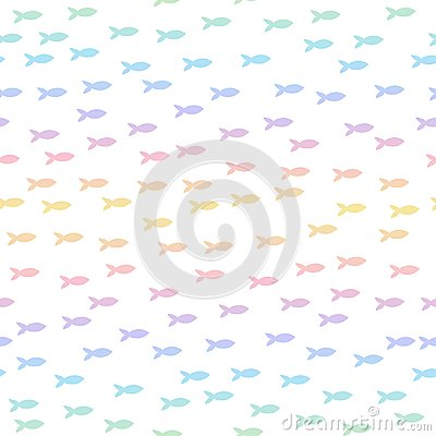 Free Seamless Pattern With Silhouette Of Fish Royalty Free Stock Photo - 121712885