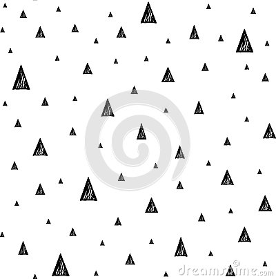 Free Seamless Pattern With Small Triangles. Hand Drawn Geometric Triangle Shapes. Royalty Free Stock Photography - 73626937