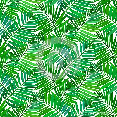 Free Seamless Pattern With Tropical Palm Leaves Royalty Free Stock Photography - 40577077
