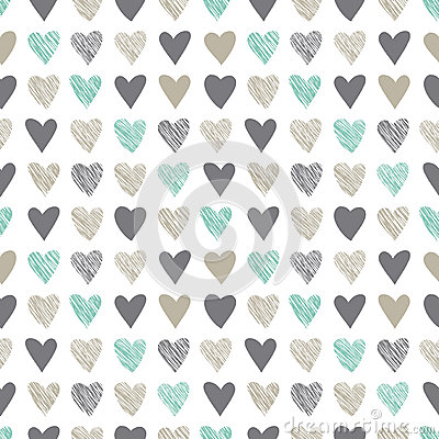 Free Seamless Pattern With Vintage Hatchet Hearts Royalty Free Stock Images - 36575419