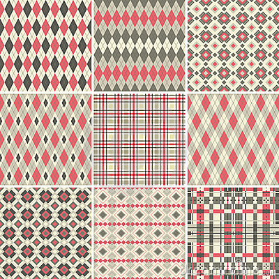 Free Seamless Patterns Royalty Free Stock Photos - 17399278