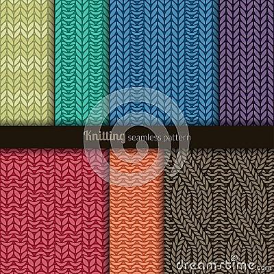 Free Seamless Patterns Knitting Style Royalty Free Stock Photography - 34621787