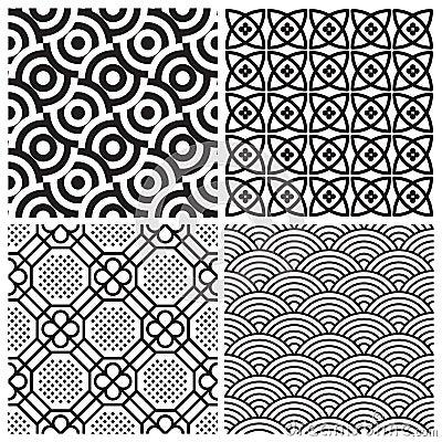Free Seamless Patterns Set (vector) Royalty Free Stock Photos - 14655238